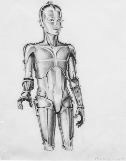 Ralph McQuarrie, C-3PO Concept Art 1975 Graphite pencil on tracing paper